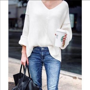 FREE PEOPLE LA BREA KNIT SWEATER S